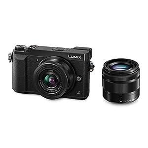 Panasonic LUMIX G DMC-GX80WEGK Systemkamera (16 Megapixel, Dual I.S. Bildstabilisator,Sucher, 4K Foto / Video) Doppelzoom-Kit mit H-FS12032E und H-FS35100E schwarz