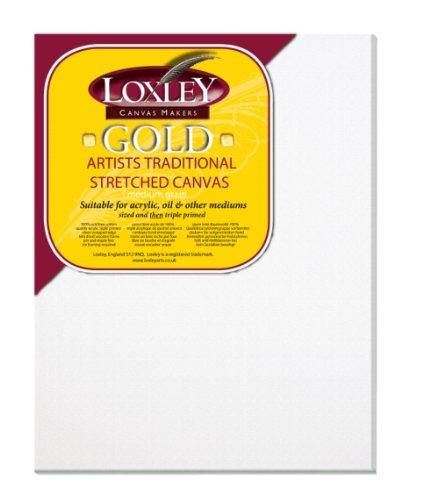 Loxley Gold - Tela preparata per schizzi allungata artisti, 45 x 35 cm, 18 mm di profondità