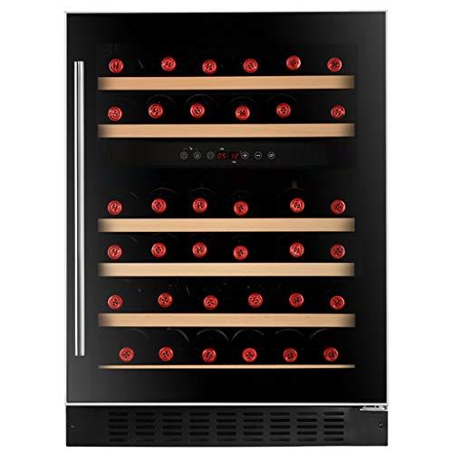 Thermostat cabinet Sonw Yang Kompakter WeinküHler, 145l RotweinküHlschrank Mit Transparenter TüR, Touchscreen, Schloss Und SchlüSsel, Streamline Embeddable Mini-KüHlschrank, Schwarz - Mini-kühlschrank-schlüssel