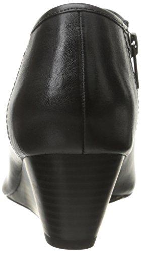 Pompa Clarks Brielle Abby Wedge Dark Grey Leather