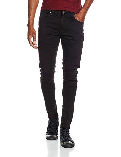 Enzo Herren Skinny Jeans EZ326 Schwarz