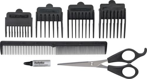 essentials - 410GFrwPrnL - High Quality Essentials by BaByliss For Men 7437EU 8 Piece Clipper