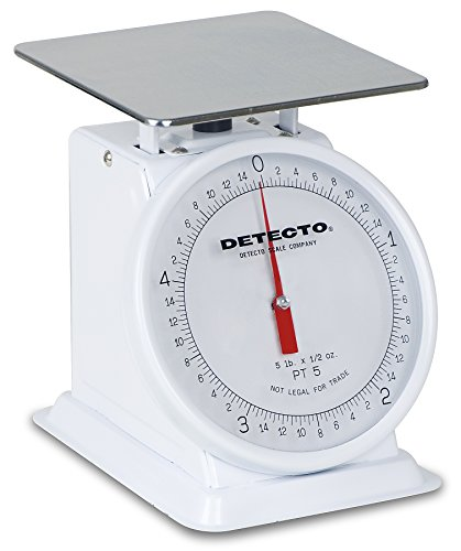 Detecto PT-5 Top Loading Fixed Dial Scale, 5.75