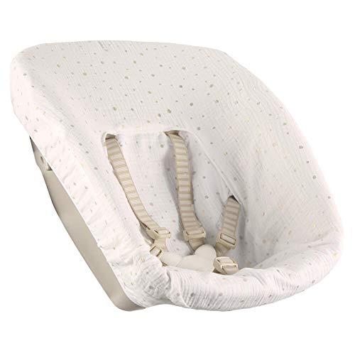 Bezug Stokke Tripp Trapp Newborn Set Weiß goldene Punkte Öko-Tex 100 Baumwolle Recycelbar Schweißabsorbierend und Weich für Ihr Baby