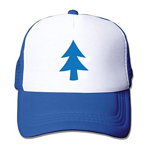 Unisex Dipper Blue Tree Baseball Hat Mesh Back Trucker Snapback (5 colours)