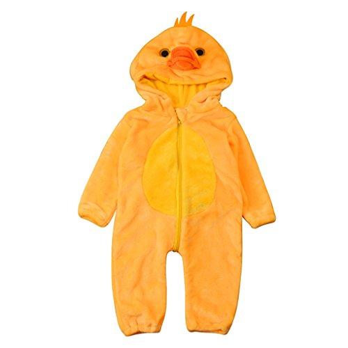 JYJMToddler Newborn Baby Boys Girls Animal Cartoon Hooded Rompers Outfits Clothes (Größe: 24Monat, (Hooded Kostüm Robe Muster)