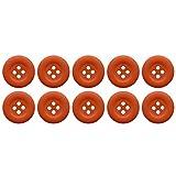 Soul-Cats® Knopfset in verschiedenen Farben und Größen Kunststoff bunt , Größe:18 mm;Farbe:orange