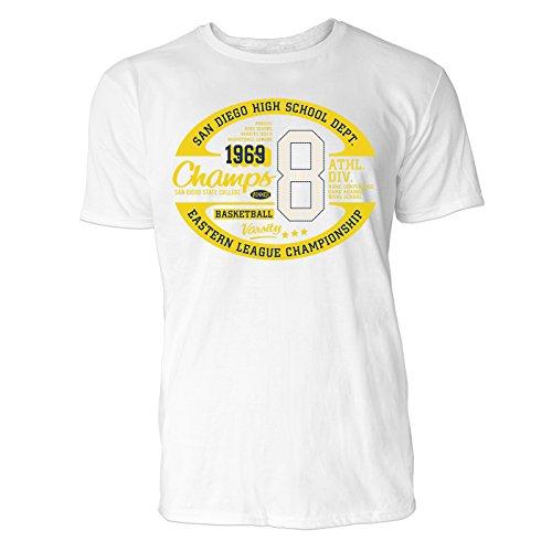 Herren T Shirt San Diego High School (Weiss) Freizeit/Sport / Club T-Shirt Crew Neck NOOS Original