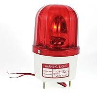 sourcingmap® Lámpara de 24V DC Flash Rojo Industrial Sirena alarma sonido rotatorio estroboscópica