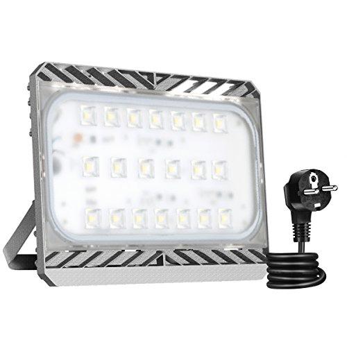 GOSUN® Super Hell 100W LED Fluter Außenstrahler 9000Lumen 230V IP65 CREE SMD5050 Warmweiß, 36 Monate Garantie