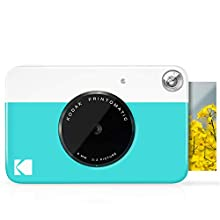 Kodak Printomatic Digital Instant Print Camera - Full Color Prints On ZINK 2 x 3 Inch Sticky-Backed Photo Paper (Blue) Print Memories Instantly