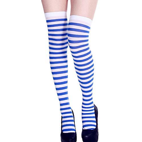 Maleya Halloween Socken Lange Rohr Socken Über das Knie Lustige Kleid Party Requisiten Cosplay Kostüm Geschenk für Frauen Mädchen Druck Lange Schlauch Kniestrümpfe Partei Dress Up Props