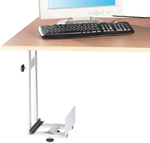 General Office PC Halter: Platzsparende PC-Halterung für Untertisch-Montage (PC Untertischhalterung)