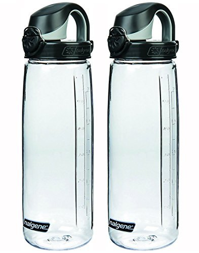 Nalgene Trinkflasche Everyday OTF, CLEAR/BLACK Set of 2, 24 ounce