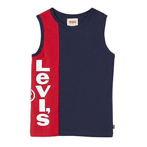 Levi's kids Nn10327 48 tee-Shirt Camiseta, Azul (Dark Blue), 3 años (Talla del Fabricante: 3Y) para Niños