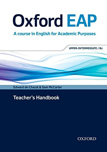 Oxford EAP: Oxford English for Academic Purposes Upper-Intermediate: Teacher's Book and DVD Pack