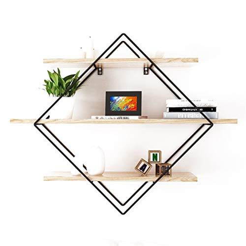 Diaosi semplice e moderno in legno massello mensola da parete per soggiorno tv a parete mensola a muro con cornice a parete (dimensioni : 60x22x80cm)