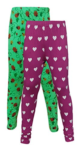 Little Stars Girls' Cotton Regular Fit Leggings- Pack of 2 (Po2Gpl_3208_24, Multi-Colour, 4-5 Years)  available at amazon for Rs.349