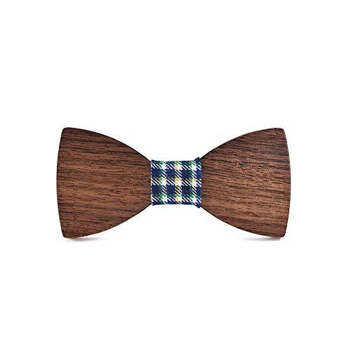 YAOSHI-Bow tie/tie Krawatten und Fliegen für Herren Holz Fliege Volltonfarbe Kleidung Herren Anzug Krawatte Klassische handgemachte Hochzeit Schmetterling Kostüm Krawatten und Fliegen für -