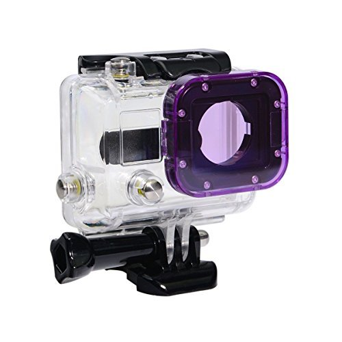 Phot-R® Snap-On Magenta Purple Action Camera Lens Filter for GoPro Hero 4 3+ 3 Underwater Sea Dive Diving Housing Case (Gopro Hero 3 Dive)