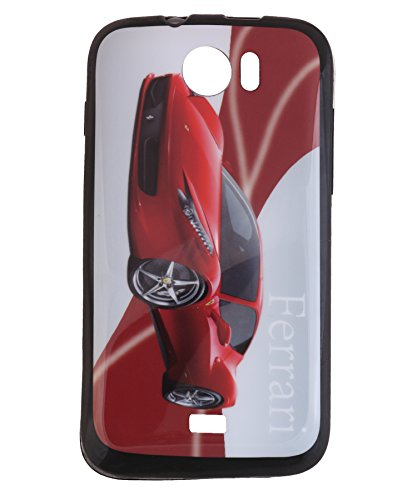 iCandy Matte Finish Soft Rubber Printed Back Cover for Micromax Canvas 2 A110 - Ferrari  available at amazon for Rs.125