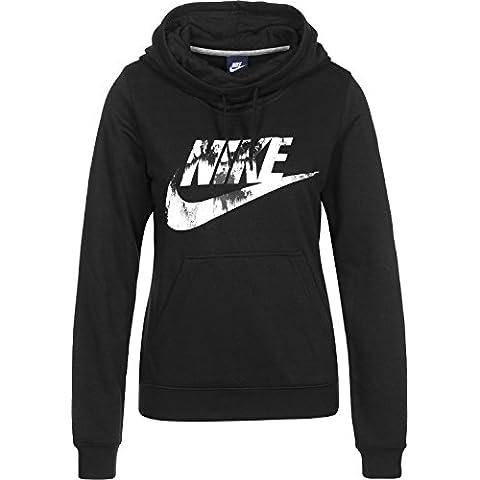 Nike W Nsw Fnl Flc Gx2 - Sudadera para mujer, color negro, talla M