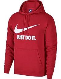 Nike NSW HOODIE PO JDI Sudadera con Capucha, Hombre, Rojo, L