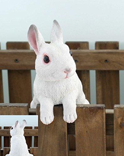Benelando Weißes Kaninchen als hängende Gartenfigur