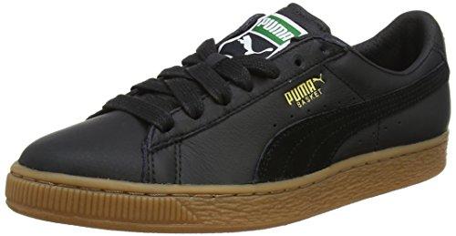 Puma Unisex-Erwachsene Basket Classic Gum Deluxe Sneaker, Schwarz Black, 47 EU