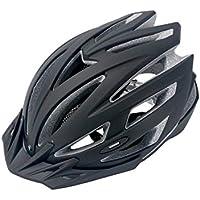XDXDWEWERT Bicicleta Casco de Bicicleta de montaña poroso de Casco de una Pieza Ajustable para Adultos Casco de Bicicleta de montaña poroso (Negro)