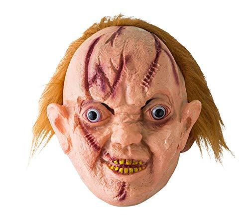 LZGBH Halloween Horror Maske Scary Ghost Tongue Maske Ekelhaftes Vinyl Blutiges Halloween Kostüm Maskerade Party Requisiten,A