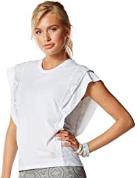 Zumba Fitness Damen Top Aztec Layered Sleeve Tee