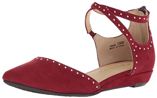 CL by Chinese Laundry Damen Smile Lächeln, Cherry Red Suede, 37 EU Chinese Laundry Ballerinas