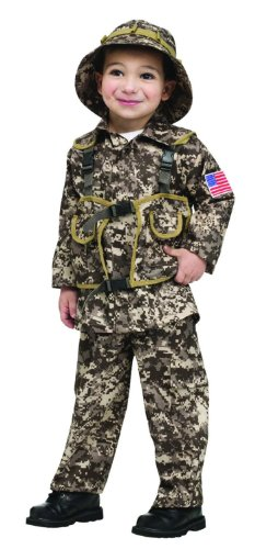 Fun World Costumes Baby Boy's Desert Commando Camo Toddler Costume, Green, Large