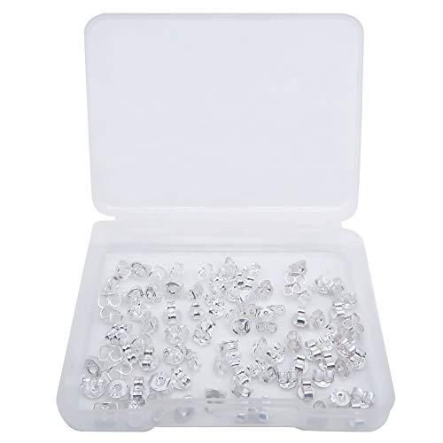 TOAOB 30 Paar 925 Sterling Silber Ohrring Stopper Ohrstecker Verschluss Drei Größen Poallergenen Butterfly Ohrstopper