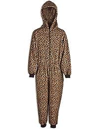 2f96e20cd4dc Camille - Pigiama intero bambino unisex leopardato - marrone