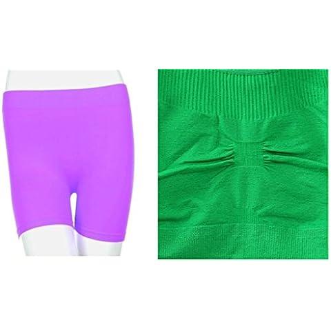 Kelly Verde, sin costuras espalda cruzada sujetador deportivo ejercicio yoga fitness Top sin + Lila, Sin Costuras Elástico Yoga pantalón corto color Spandex medias de bicicleta de