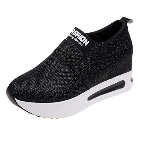 Damen Schuhe Elegant Winter Sneaker LHWY Frauen Flache Dicke Untere Schuhe Slip on Stiefeletten...