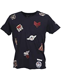 Crossby - Patch navy mc tee - Tee shirt manches courtes