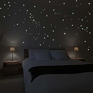 Adesivi da parete wandkings 250 punti luminosi per cielo - Etoiles phosphorescentes plafond chambre ...