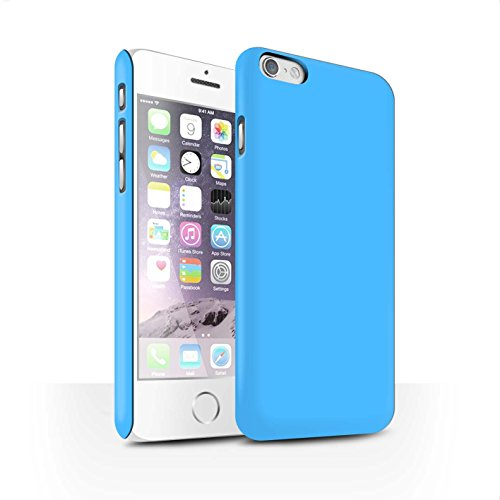 STUFF4 Matte Snap-On Hülle / Case für Apple iPhone 7 Plus / Hellblau Muster / Farben Kollektion Hellblau