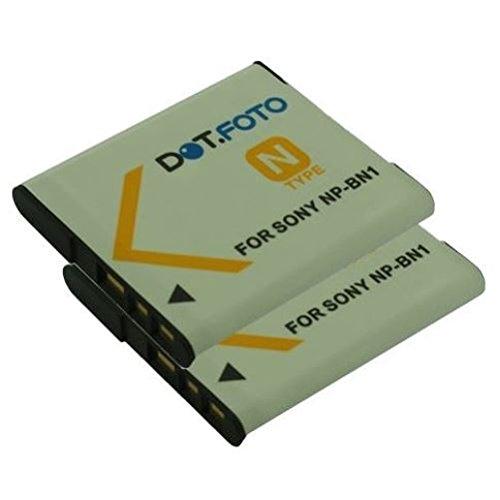 2x Dot.Foto Qualitätsakku für Sony NP-BN,NP-BN1 mit InfoChip - 3,7v / 630mAh - Garantie 2 Jahre [Siehe Beschreibung für die Kompatibilität] (Tx20-batterie)