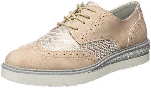 Refresh 063406, Zapatos de Cordones Derby para Mujer, Rosa (Nude), 39
