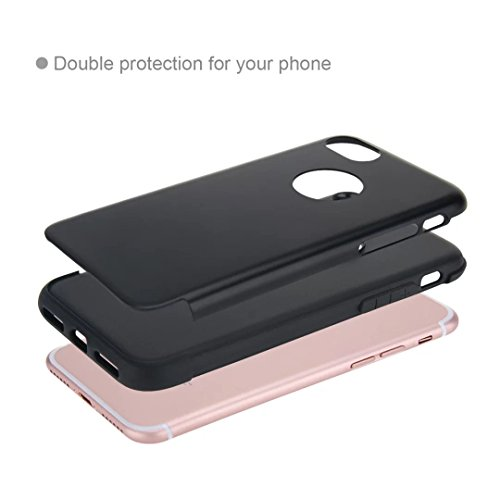 MOONCASE iPhone 7 Hülle Hybrid Dual Layer TPU +PC Handyhülle Rugged Armor Defender Case Anti-scratch Tasche Schutzhülle für iPhone 7 4.7 Inch Rose Gold Silber