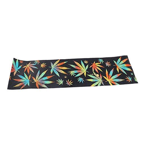 Baoblaze Skateboard Griptape Aufkleber Anti-Rutsch Sandpapier für Longboard Deko und Schutz - Ahornblatt -