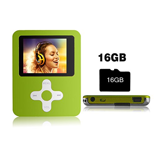 Btopllc Reproductor de MP3/MP4 Video Musical con Tarjeta de16GB Mini P