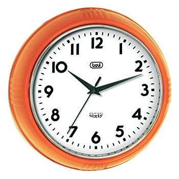 trevi 3314 orologio da parete original sixty classico retr 245cm arancio