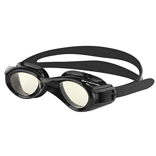 Barracuda Junior Swim Goggle Titanium JR - Anti-Fog UV Protection, Easy Adjustment, One-Piece Frame Soft Seals Silicone Strap, Comfortable No Leaking for Kids Children Ages 6-12#30935 (Black) -