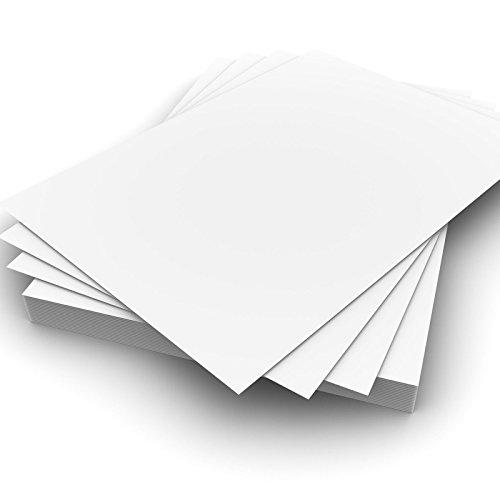 festes papier Dickes Drucker-Papier, A4, 160g/m², weißes Kartonpapier–geeignet für alle Drucker. weiß