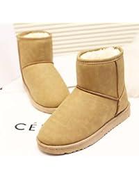 FLYRCX L'automne et l'hiver des bottes antidérapantes imperméables mode loisirs dame avec épais velours chaussures chaudes,40,UN